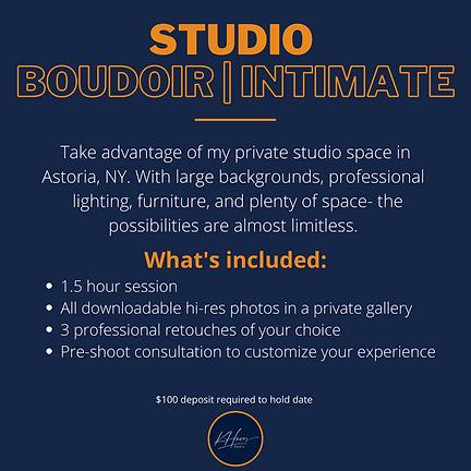 Studio Boudoir package KHueyMedia