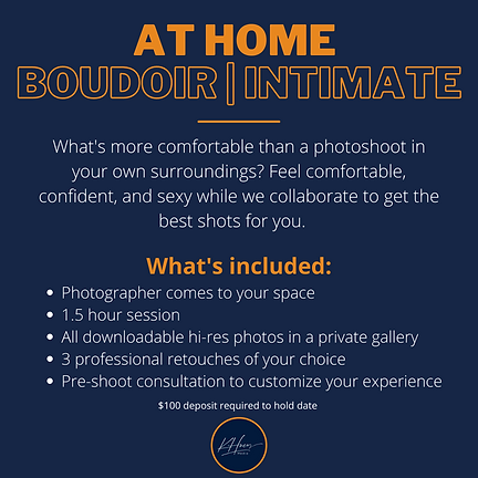 At Home Boudoir package KHueyMedia