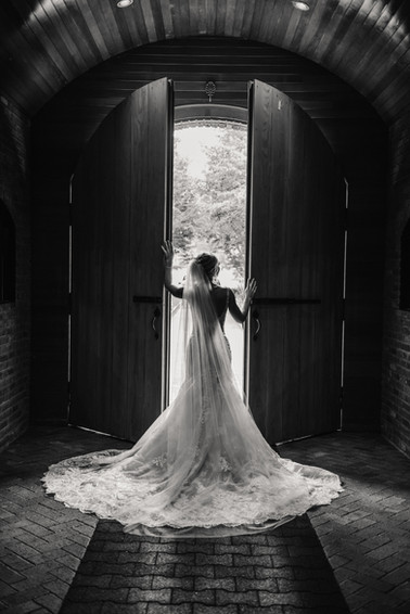 Bride grand entrance at The Venue at Crooked Willow Farms
