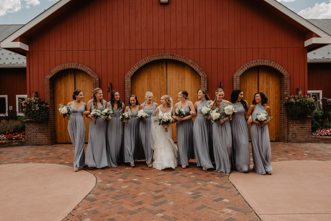Bridal Party at The Venue at Crooked Willow Farms