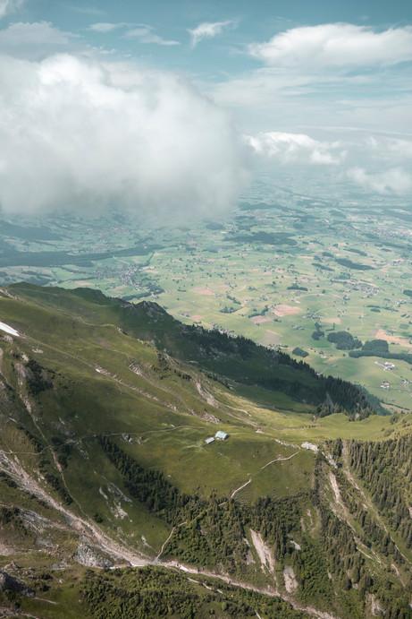 Sicht vom Stockhorn, Schweiz