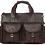 Thumbnail: H122, ILJ Men's Rustic leather Briefcase (Chocolate)