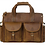 Thumbnail: H123, ILJ Men's Rustic leather Briefcase (Brown)