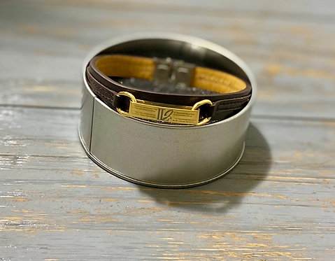 A111, Leather Casual Bracelet (X-Large)
