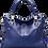 Thumbnail: H125, ILJ Leather Tote Cross Body Bag (Blue)