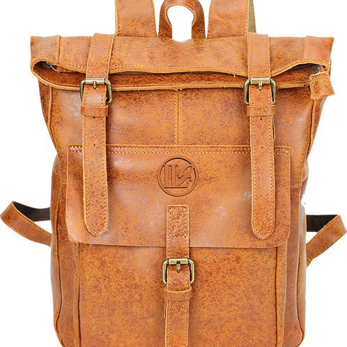 H127, ILJ Leather Backpack (Two-Tone)