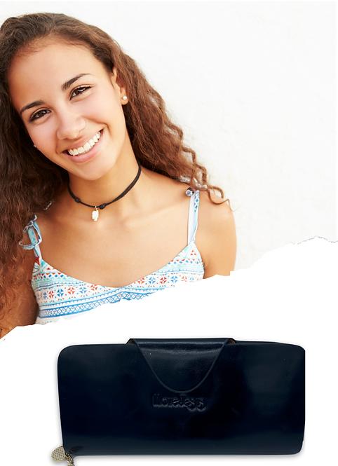 W100, Women's Leather Wallet (Black)