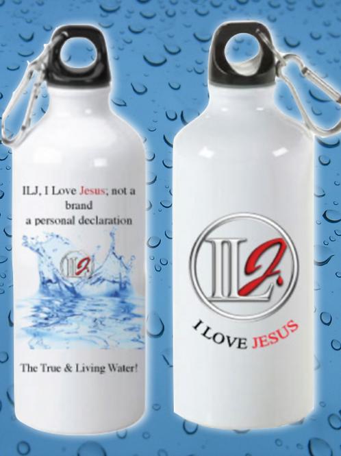 Stainless Steel ILJ 20oz Sports Bottle (Wht)