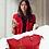 Thumbnail: H101, 100% Italian Leather Handbag (Red)