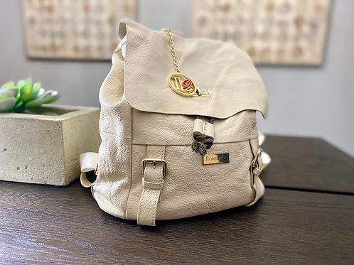 ILJ Leather Backpack (Cream)