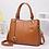 Thumbnail: H106, ILJ Leather Tote Handbag (Brown)