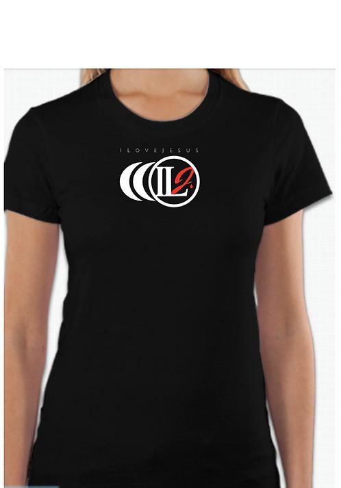 S101, ILJ Women's Slim Cut Cotton T-Shirt (Blk)