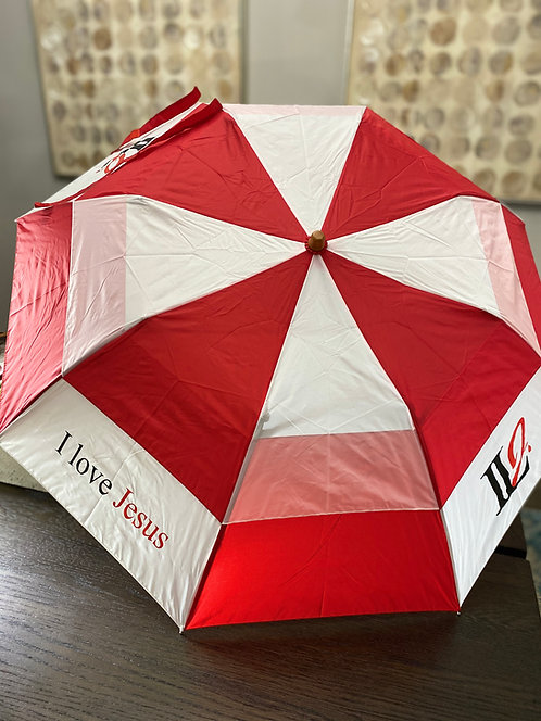 A103, ILJ Monogram Umbrella (Red/Wht)