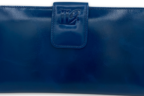 W101, Women's Leather Wallet (Blue)