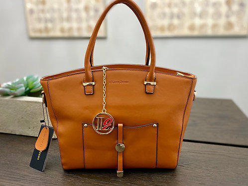 H103, 100% Italian Leather Handbag (Saddle Tan)