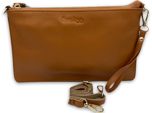 H109, ILJ Leather Clutch (Brown)