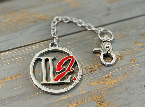 A101, ILJ Logo Chain (Platinum & Red)