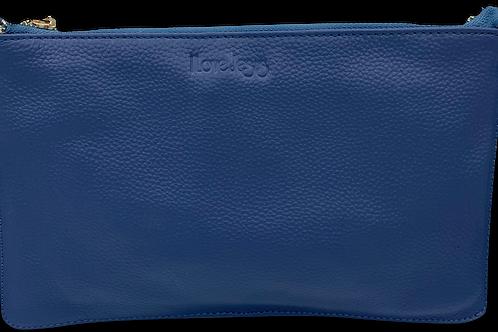H108, ILJ Leather Clutch (Blue)