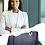 Thumbnail: H104, ILJ Leather Tote Handbag (Dark Blue)
