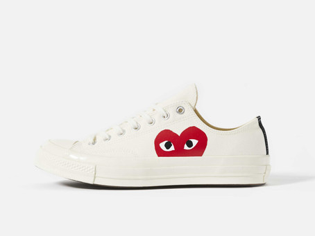 CDG Play Converse Red Heart 70's Low