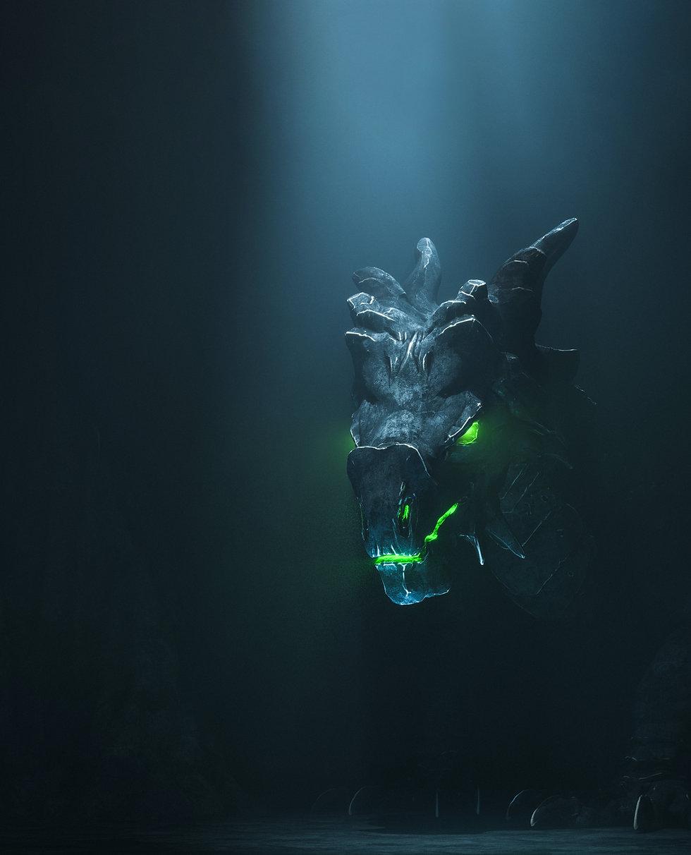 A dark figure of a lurking monster