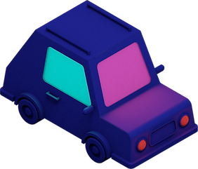 3D illustration of a car