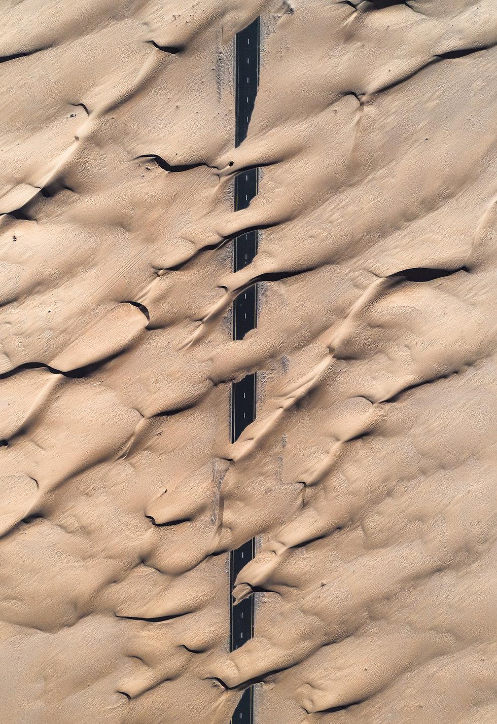 Top shot of desert landscape