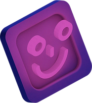 3D illustration of smiley face