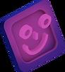 3D illustration of smiley face