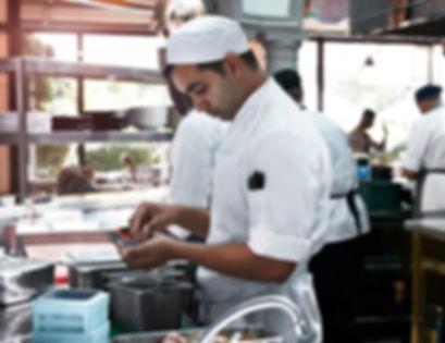 Chef cooking Mediterannean Food