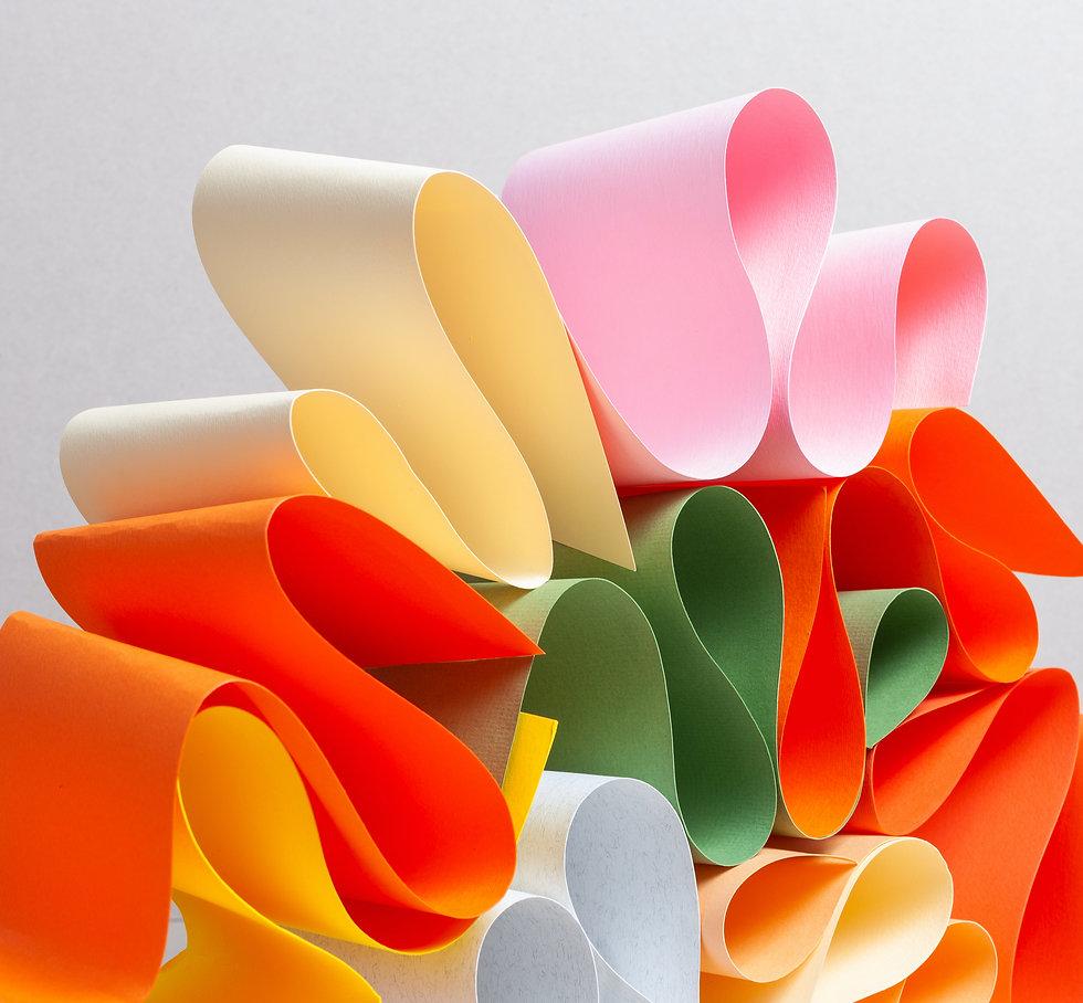 Colorful paper artwork