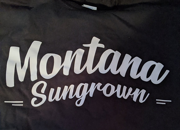 Black Montana Sungrown (word logo) T-shirt