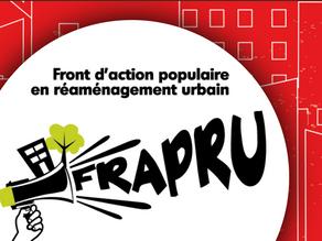 May Spotlight: Le Front d'action populaire enréaménagement urbain (FRAPRU