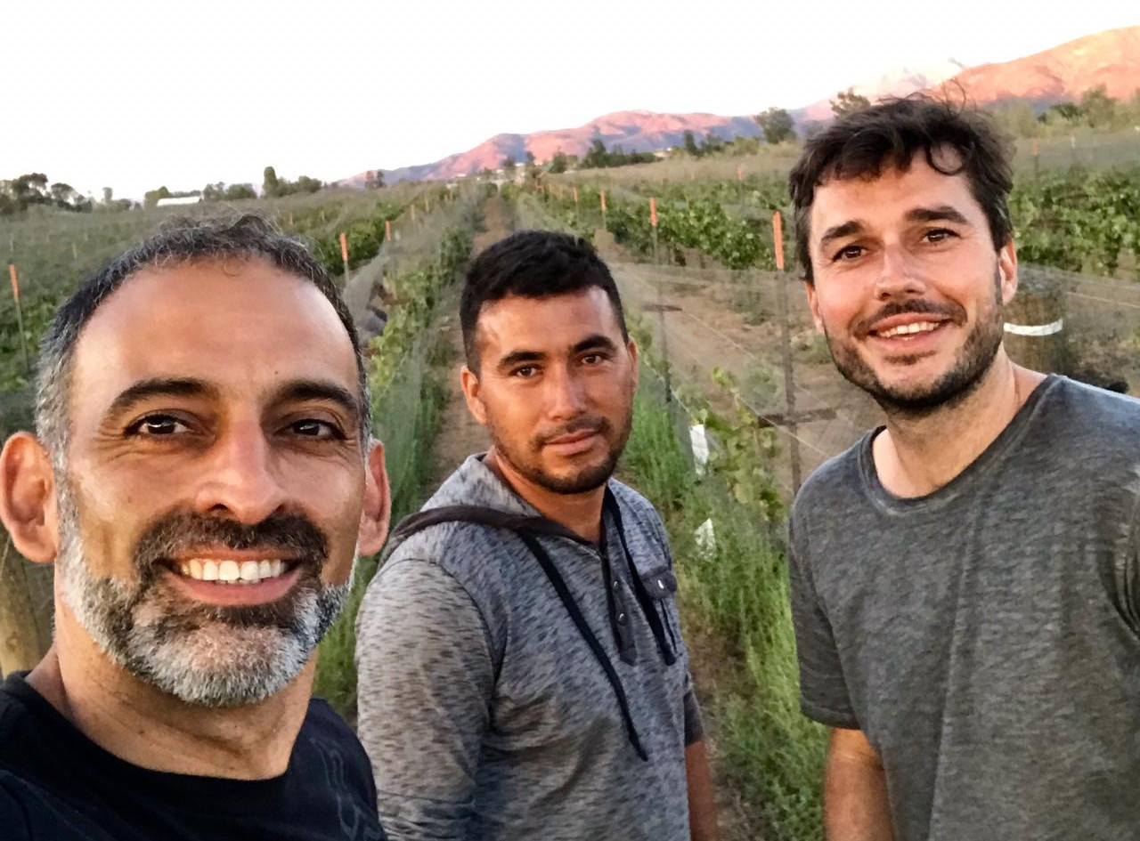 The team behind the organic and biodynamically farmed Santos Brujos estate.