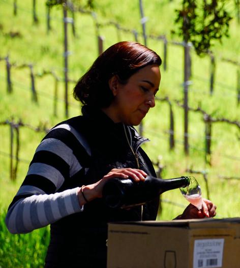 Veronica Santiago winemaker of Mina Penélope