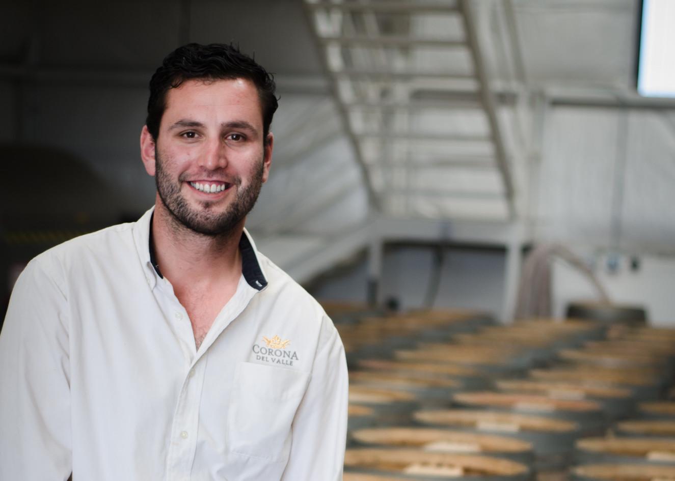 Co-winemaker Ricardo Espinoza of Corona del Valle
