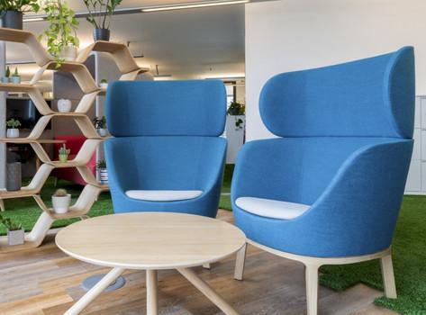 Dixi High Back Chairs in situ