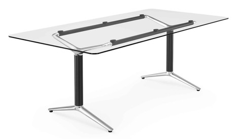 Indi Meeting Table with Glass Top