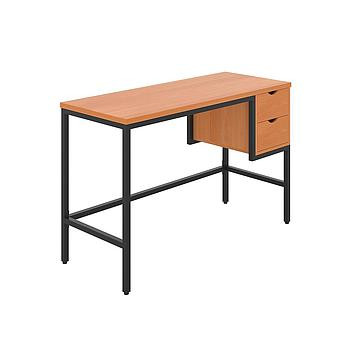 Haynes Desk with Beech Top and Black Frame