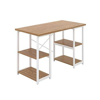 Eaton Desk with Oak Top and White Frame