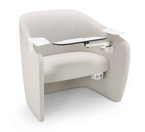 Mango Chair with Working Tablet and Shelves
