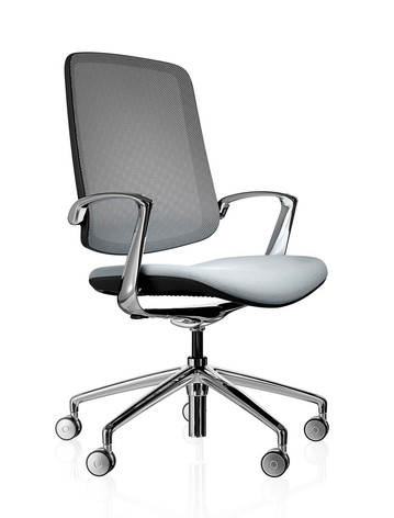Trinetic Chair - Black Frame with Chrome 5 Star Castors