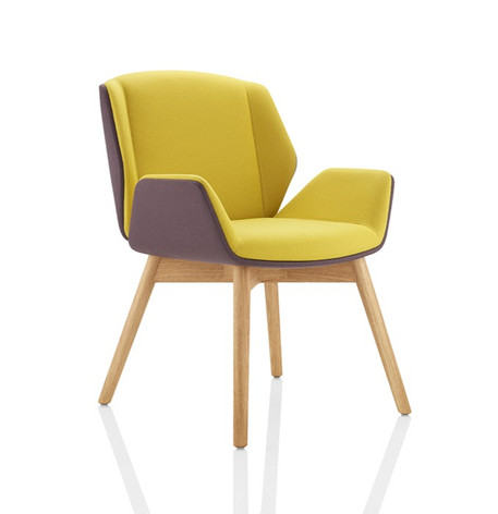 Kruze Chair - Contrasting Upholstery with Wooden Legs
