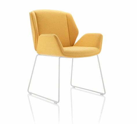 Kruze Chair - Fully Upholstered with Skid Frame