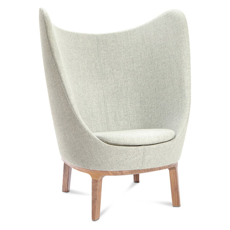 Dixi Mid Back Chair with Wooden Feet