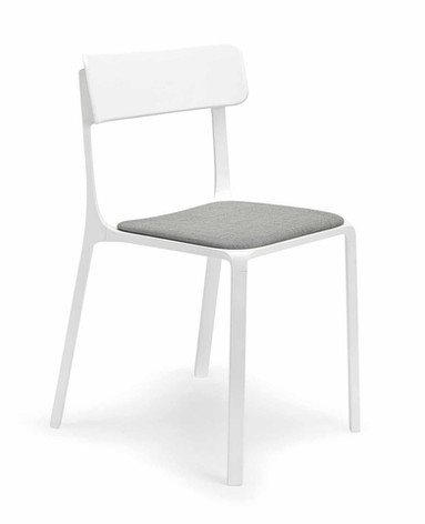 Sigma Chair with Plastic Backrest and Upholstered Seat Pad