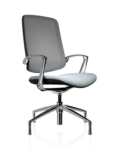 Trinetic Chair - Black Frame with Chrome 4 Star Glides