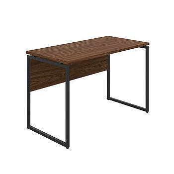 Milton Desk with Dark Walnut Top and Black Frame