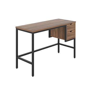 Haynes Desk with Dark Walnut Top and Black Frame