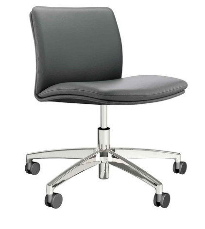 Tokyo Chair without Arms on 5 Star Chrome Castors